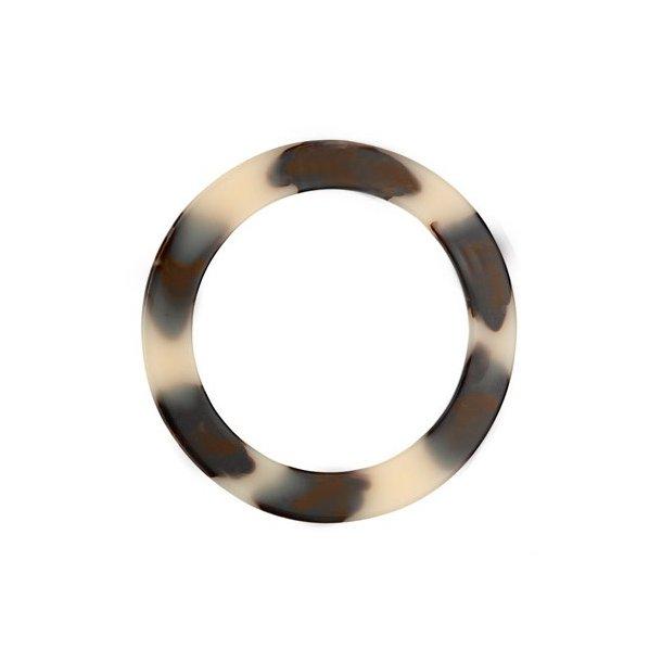 Acrylic horn bag handle 16cm 2 pcs - Inner: 12,5cm Thick: 7mm