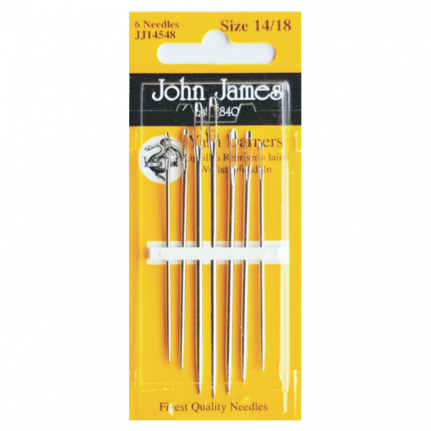 John James Yarn Darners Needles Pack of 6 Size 14/18