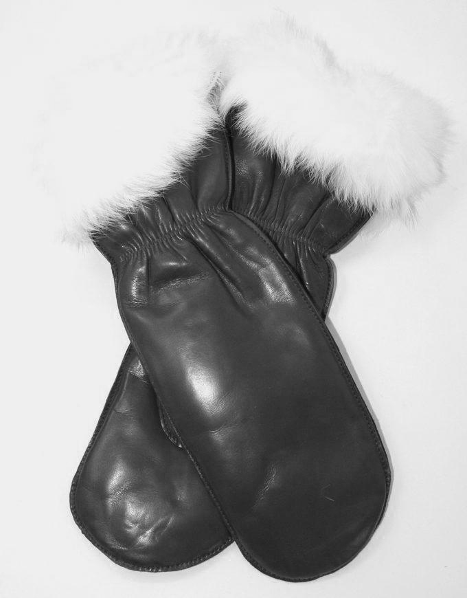 6aa9fd2251b Luffe i lammeskind med Kaninfor - Dame - Leather & Friends