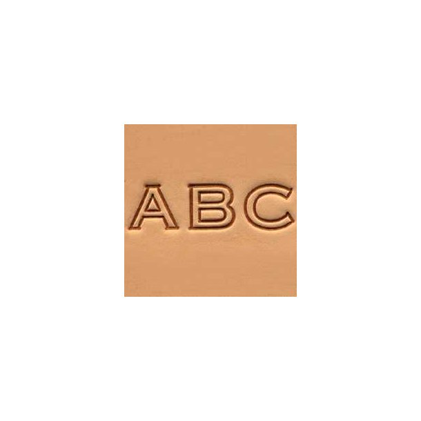 Leather Block Alphabet Set - 1/2