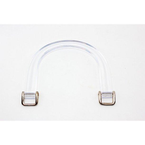 Acrylic Bag Handles - Semi circle - 2 pcs - 95mm - 16mm eye