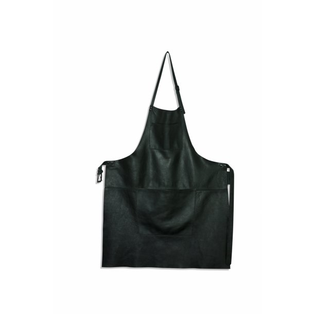 Apron in leather with pocket - Handmade