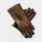 Handske i lammeskind anilin med perlelamfór - dame