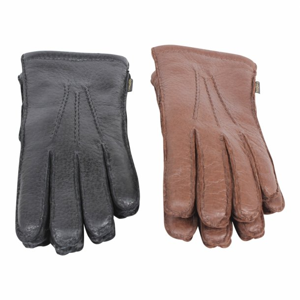 Handske af vildsvineskind med for af perlelam - Herre