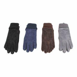 a55135de19e Handske i svineruskind med strik - Dame