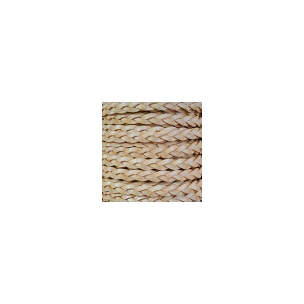 3-ply flat braided leather cord