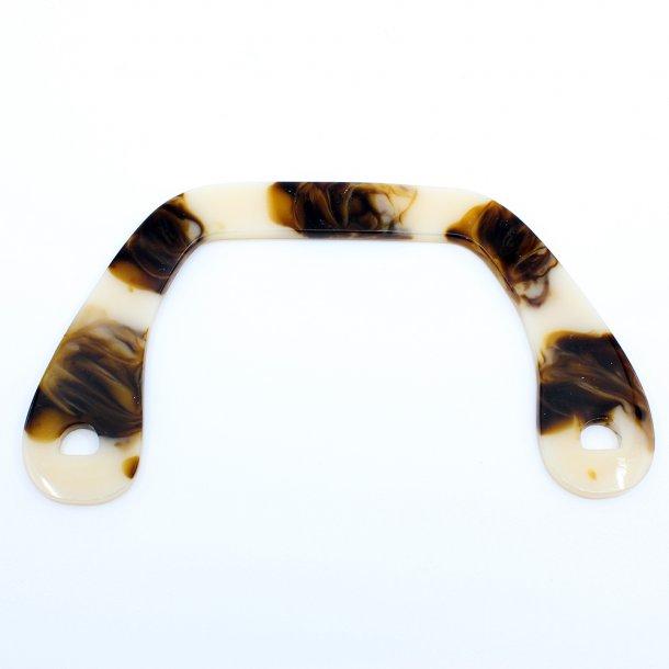 Acrylic horn bag handle 22cm 2 pcs