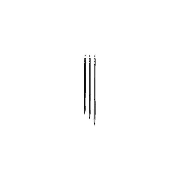Leather needles 3pcs size7,5,3