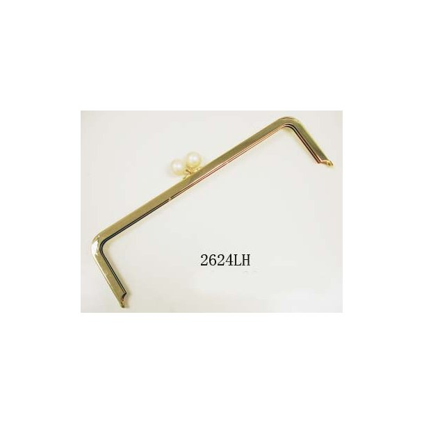 Bag frame 12x5cm gold w/pearl