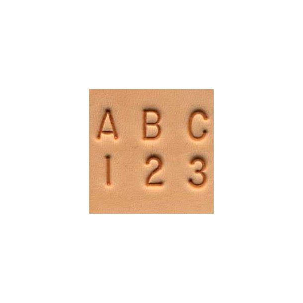 Leather Alphabet & Number Set 1/4
