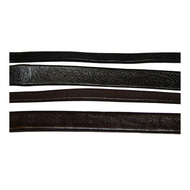 Leather lace flat folded 1mm lamb nappa 1mm thick