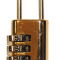 Hængelås m/kode 54x21mm