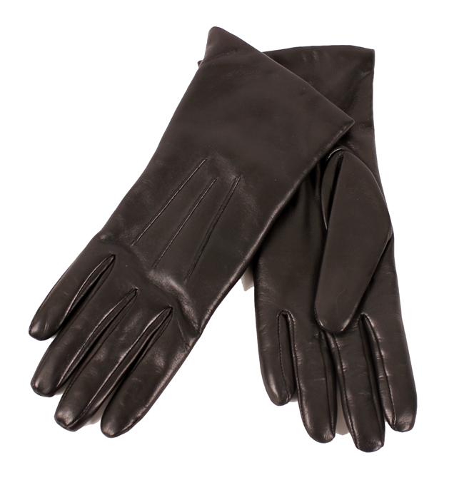 vikarbureau pleje sort læder handsker dame