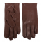 Men's glove water repellent lambskin with wool lining and press button in palm. Elegan/slim fit