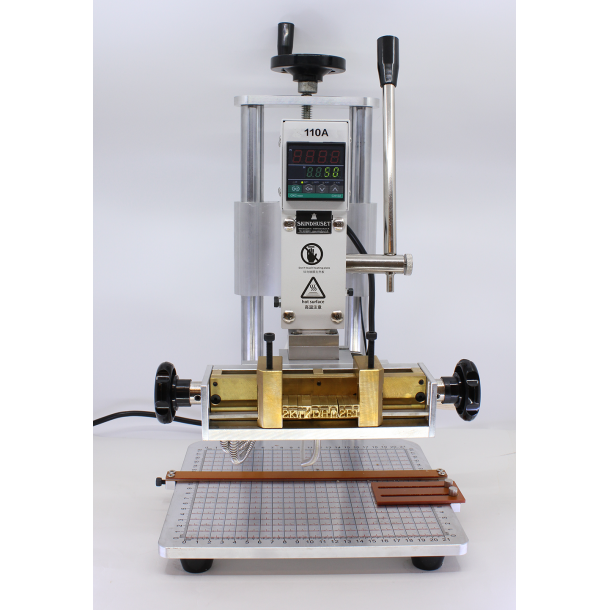 Hot Foil Stamping Machine incl letters and foil 110A