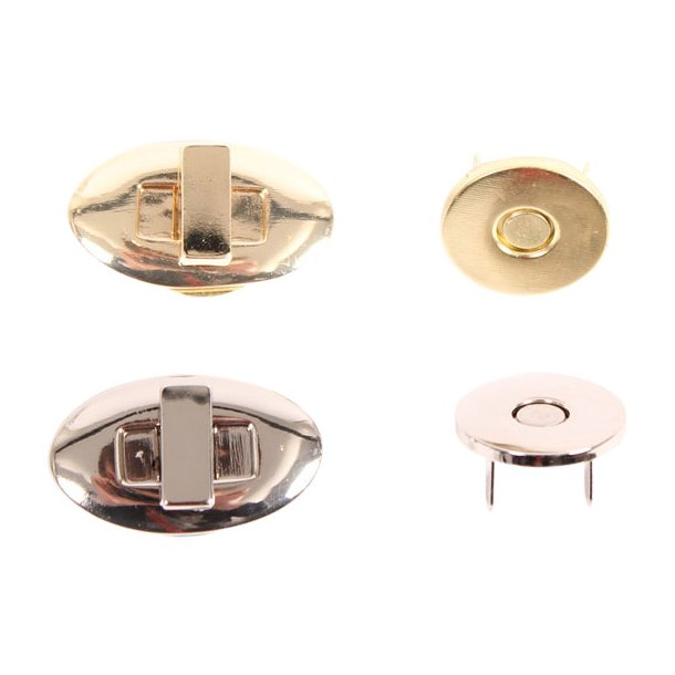 Magnetic lock oval 30x18mm
