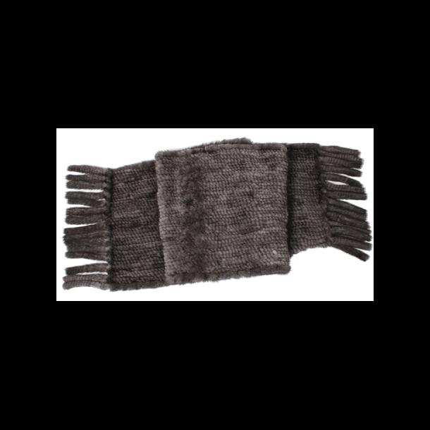 Halstørklæde strikketmink 170 x 30 cm - 4 farver