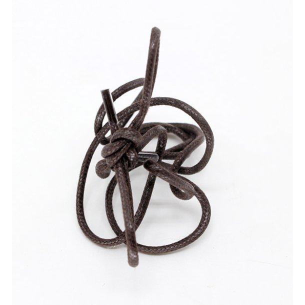 Snørebånd rund tynd vokset 90 cm -Saphir