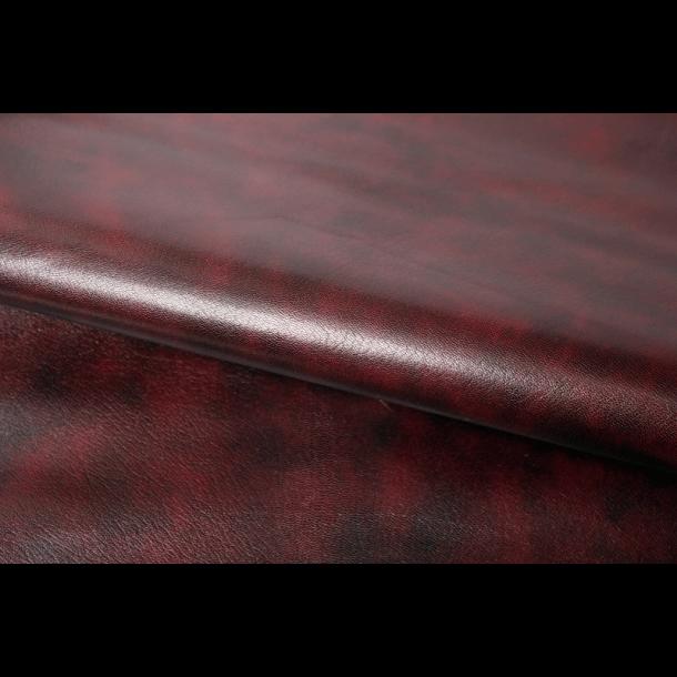 Vinrød marmorerede gedeskind 0,6mm - ca. 4 kvf